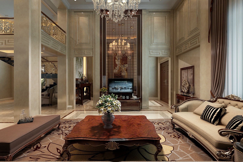 上饶客户私人别墅装修设计