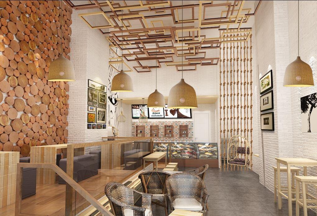 年轮加盟店装修咖啡店设计