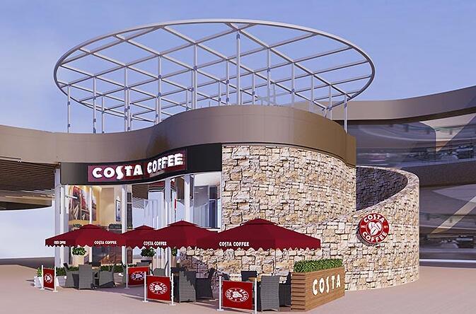 COSTA咖啡店装修设计
