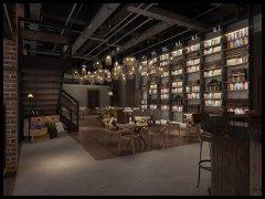工业风咖啡厅装修设计效果图